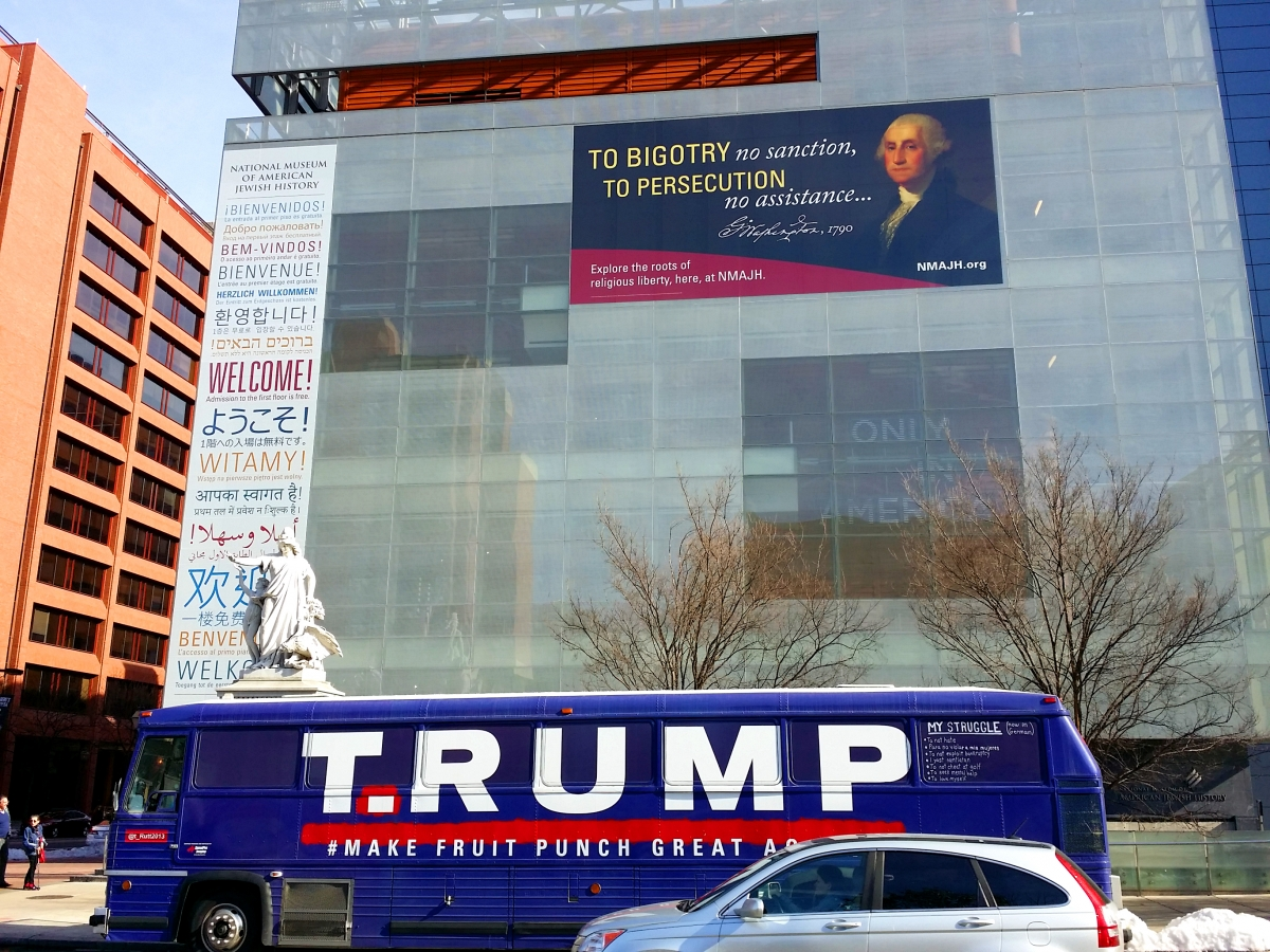 T.RUMP Bus at National Museum of American Jewish History