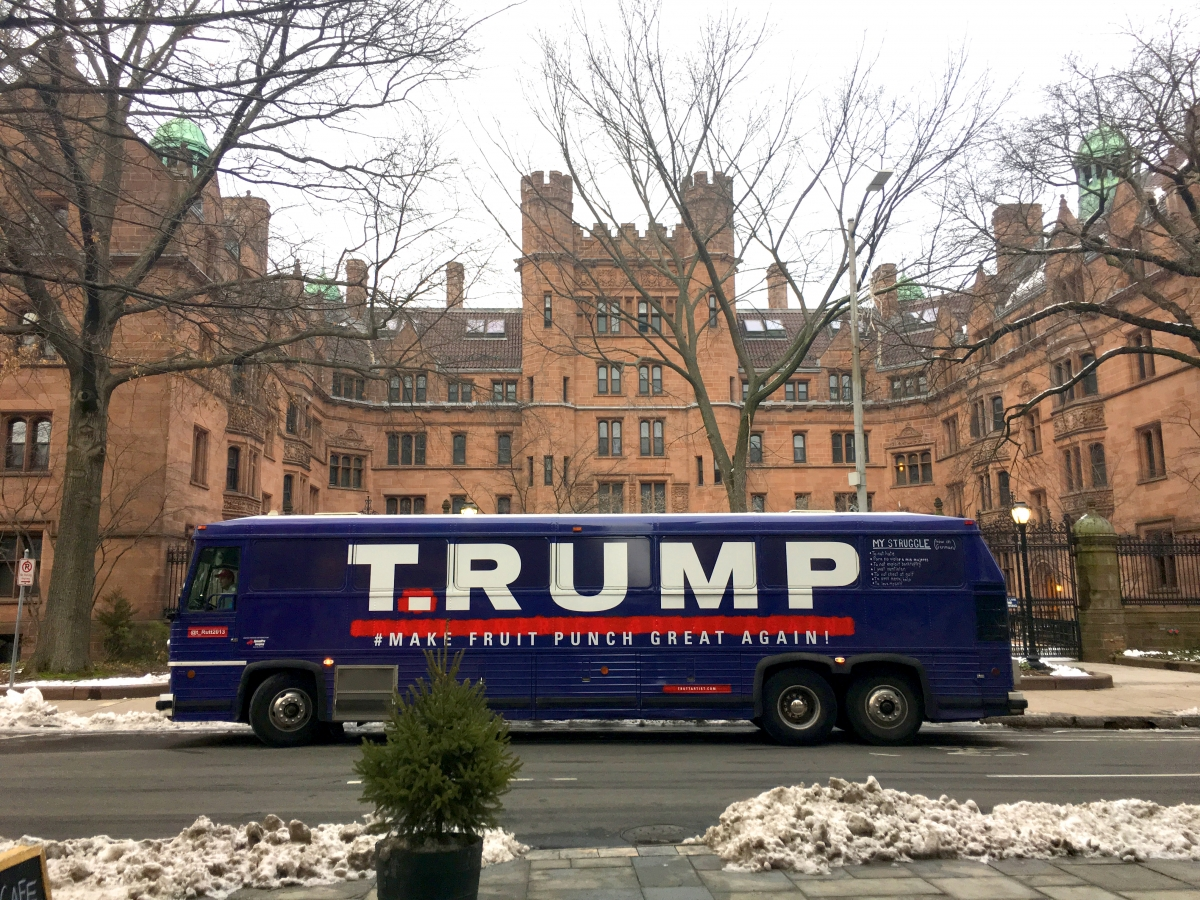 T.RUMP Bus at Yale