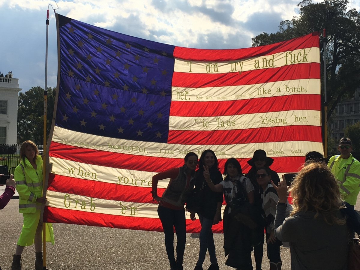 Desecration in front of White House